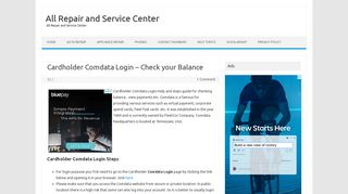 Cardholder Comdata Login - Check your Balance - All Repair and ...