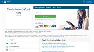 Reeds Jewelers Credit Card: Login, Bill Pay, Customer Service and ...