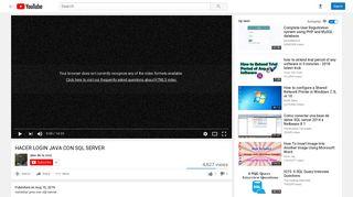 HACER LOGIN JAVA CON SQL SERVER - YouTube