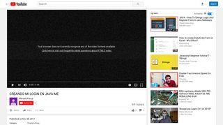 CREANDO MI LOGIN EN JAVA-ME - YouTube