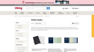 Visitors Books   Visitor Sign In Book   Viking Direct UK