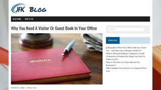 Why You Need A Visitor Or Guest Book In Your Office   JFK - JFK Binding