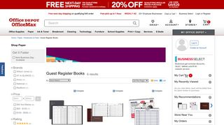 Visitor Books at Office Depot OfficeMax