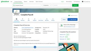 Working at Complete Payroll | Glassdoor