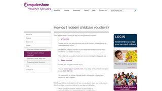 How do I redeem childcare vouchers?   Computershare Voucher ...