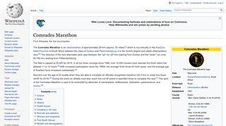 Comrades Marathon - Wikipedia