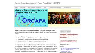 Oregon Connections Academy Parent Association (ORCAPA ...