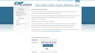 Online ID Card Login - Consolidated Health Plans