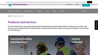 Products & Services for Suppliers - Constructionline