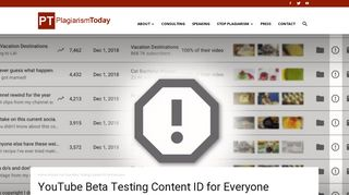 YouTube Beta Testing Content ID for Everyone - Plagiarism Today