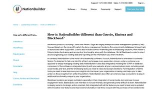 How is NationBuilder different than Convio, Kintera and BlackBaud?
