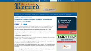 Cable-Internet company promises to turn Paxton ... - Paxton Record