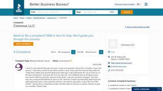 Conxxus LLC   Complaints   Better Business Bureau® Profile