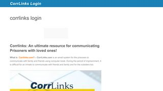 corrlinks login - CorrLinks Login