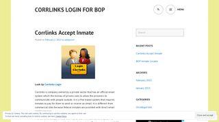 Corrlinks Accept Inmate - Corrlinks Login for BOP - WordPress.com