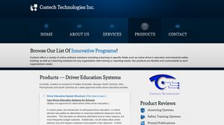 Driver Education Systems - Costech Technologies Inc.