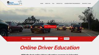 Driver's Ed Colorado - Drivers Education Course Online   Co Driver Ed.