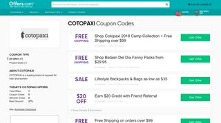 37% off COTOPAXI Coupons & Promo Codes + Free Shipping 2019