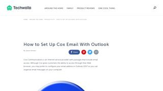 How to Set Up Cox Email With Outlook | Techwalla.com