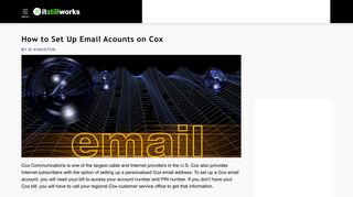 How to Set Up Email Acounts on Cox | It Still Works