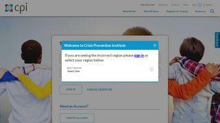 CPI Login   CPI - Crisis Prevention Institute