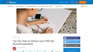 Tax Tip: How to retrieve your CRA My Account password | 2019 ...