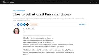 How to Sell at Craft Fairs and Shows - Entrepreneur.com