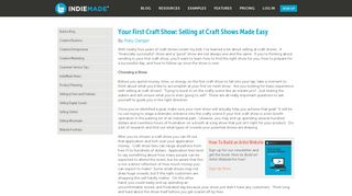 Your First Craft Show: Selling at Craft Shows Made Easy | IndieMade