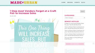 1 Step most Vendors Forget at a Craft Fair to Increase Sales - Made ...