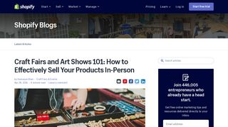 Craft Fairs and Art Shows 101: How to Effectively Sell Your Products I