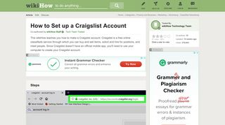 How to Set up a Craigslist Account: 9 Steps (with Pictures)