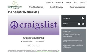 Craigslist SMS Phishing   AdaptiveMobile