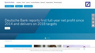 Deutsche Bank: Home