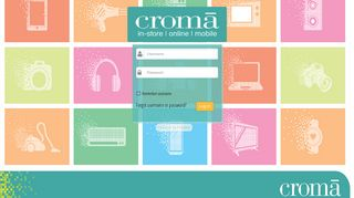Croma: Log in to the site