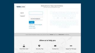 Account Access - Login, Register, Reset Your Account   Tata Card