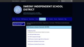 TEKS Resource System (formerly CSCOPE) - Sweeny Independent ...