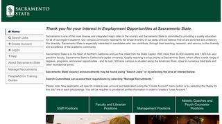 Sacramento State University - PeopleAdmin
