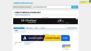 cmh.ctimesolutions.net at Website Informer. Login. Visit Cmh ...