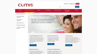 Products & Services - Cumis