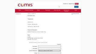 Contact Us - Cumis