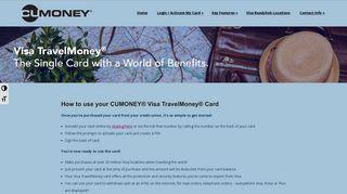 How to use your CUMONEY® Visa TravelMoney® Card – cumoney.com