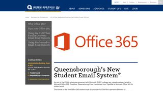 Queensborough's New Student Email System