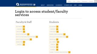 Login to access student/faculty services