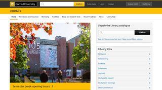 Library - Curtin University