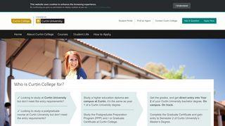 Study in Perth | Curtin College at Curtin University
