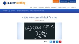 4 tips to successfully look for a job   Custom Staffing