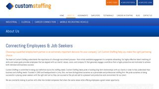 About Us   Custom Staffing