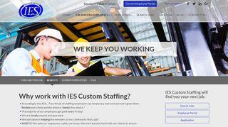 Benefits - IES Custom Staffing