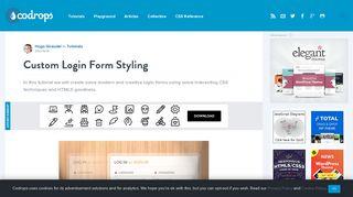 Custom Login Form Styling - Codrops
