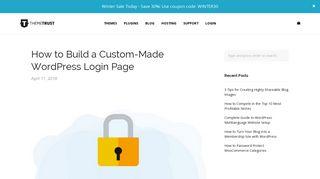 How to Build a Custom-Made WordPress Login Page   ThemeTrust